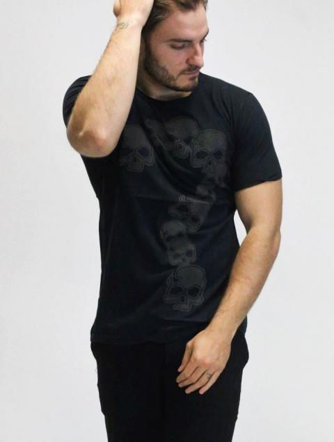 Ανδρικό T-Shirt Ερωτηματικό Νεκροκεφαλές
