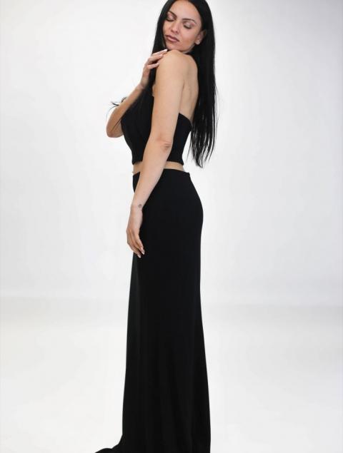 Μαύρο Σετ Μπούστο & Ψηλόμεση Φούστα