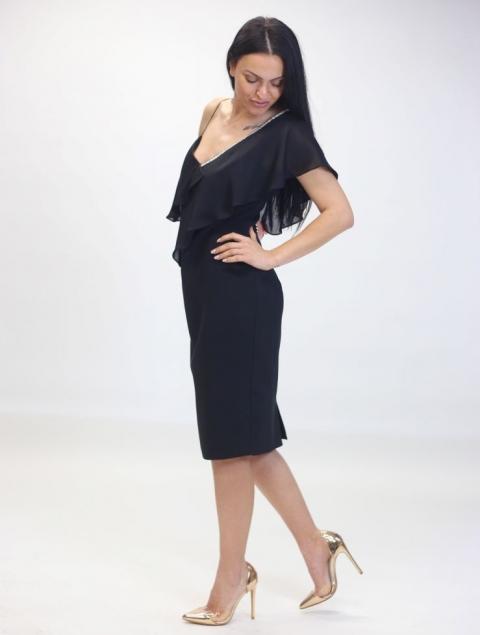 Σικάτο Μαύρο Μίντι Φόρεμα