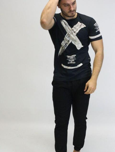 Ανδρικό T-shirt Τύπωμα X OTO/HOMME