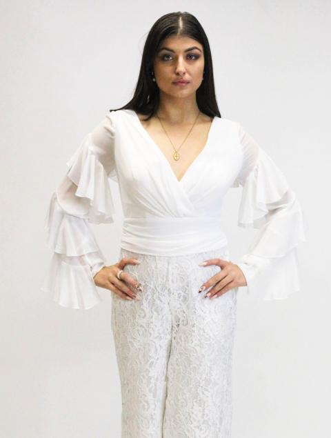 Ολόσωμη φόρμα άσπρη
