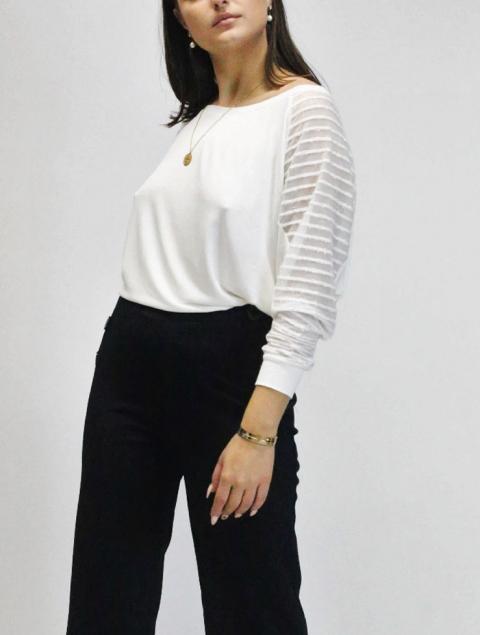 Γυναικεία μπλούζα με διαφάνεια