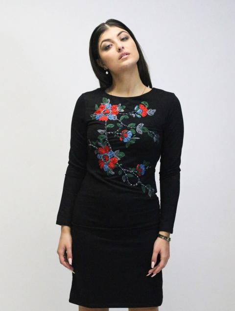Γυναικείο φόρεμα κέντημα λουλούδια