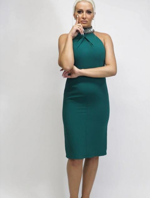 Φόρεμα midi πράσινο