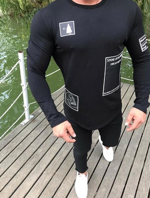 Ανδρική μπλούζα crewel