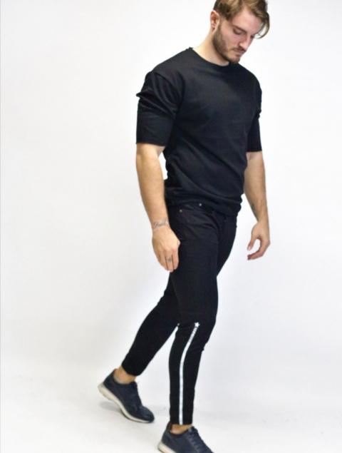 Ανδρικό jean slim μαύρο